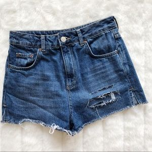 Topshop Moto Mon Shorts with Crochet Pocket